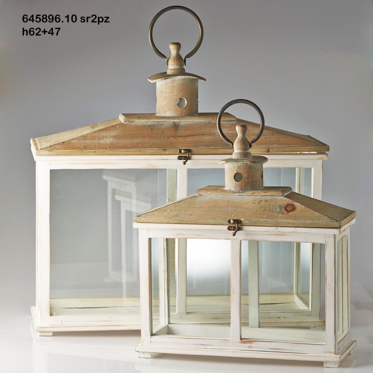 Lanterna grande in legno con tetto for Lanterne in legno