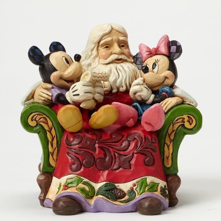 Babbo Natale Disney.Babbo Natale Con Topolino E Minnie Disney Traditions Jim Shore 4046017