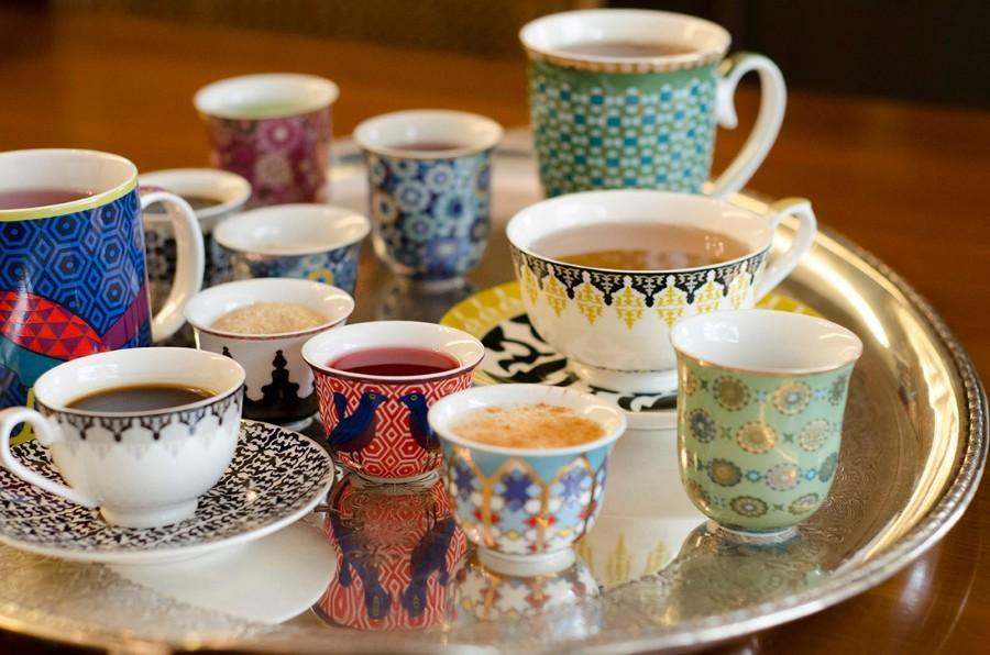 Set 2 bicchieri caffe 39 porcellana con scatola in latta for Bicchieri caffe