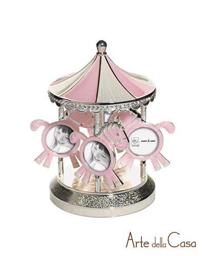 Carillon portafoto argento silver rosa linea a342 arte - Arte della casa ...