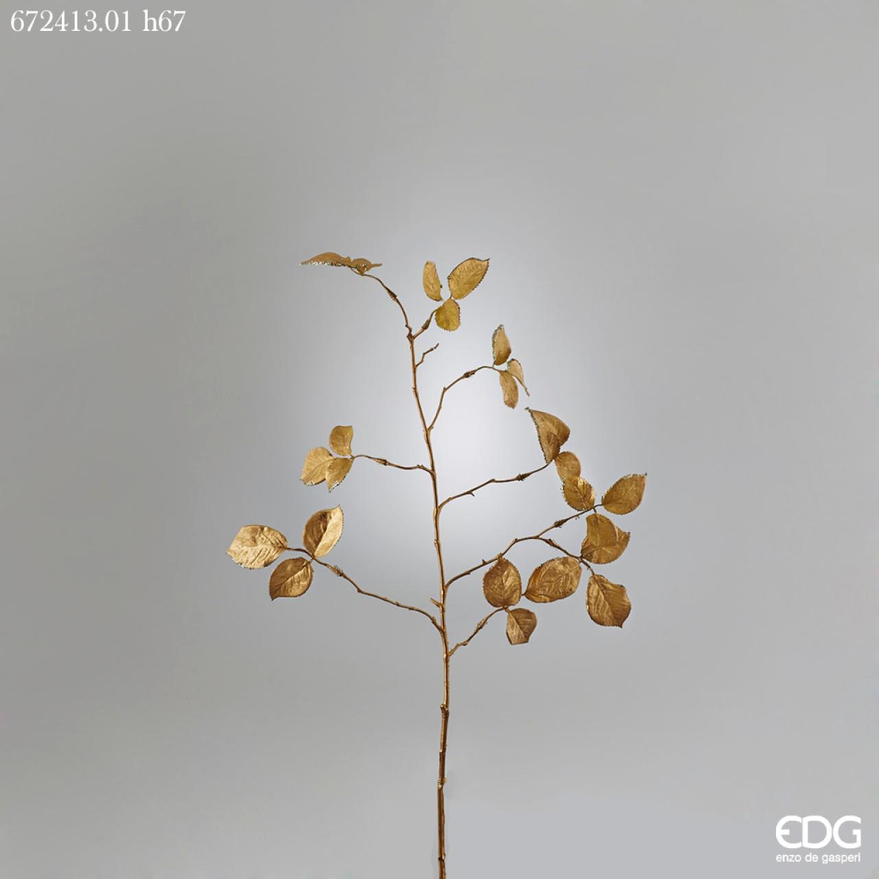 Ramo foglie e rose oro h 67 arte della casa - Arte della casa ...