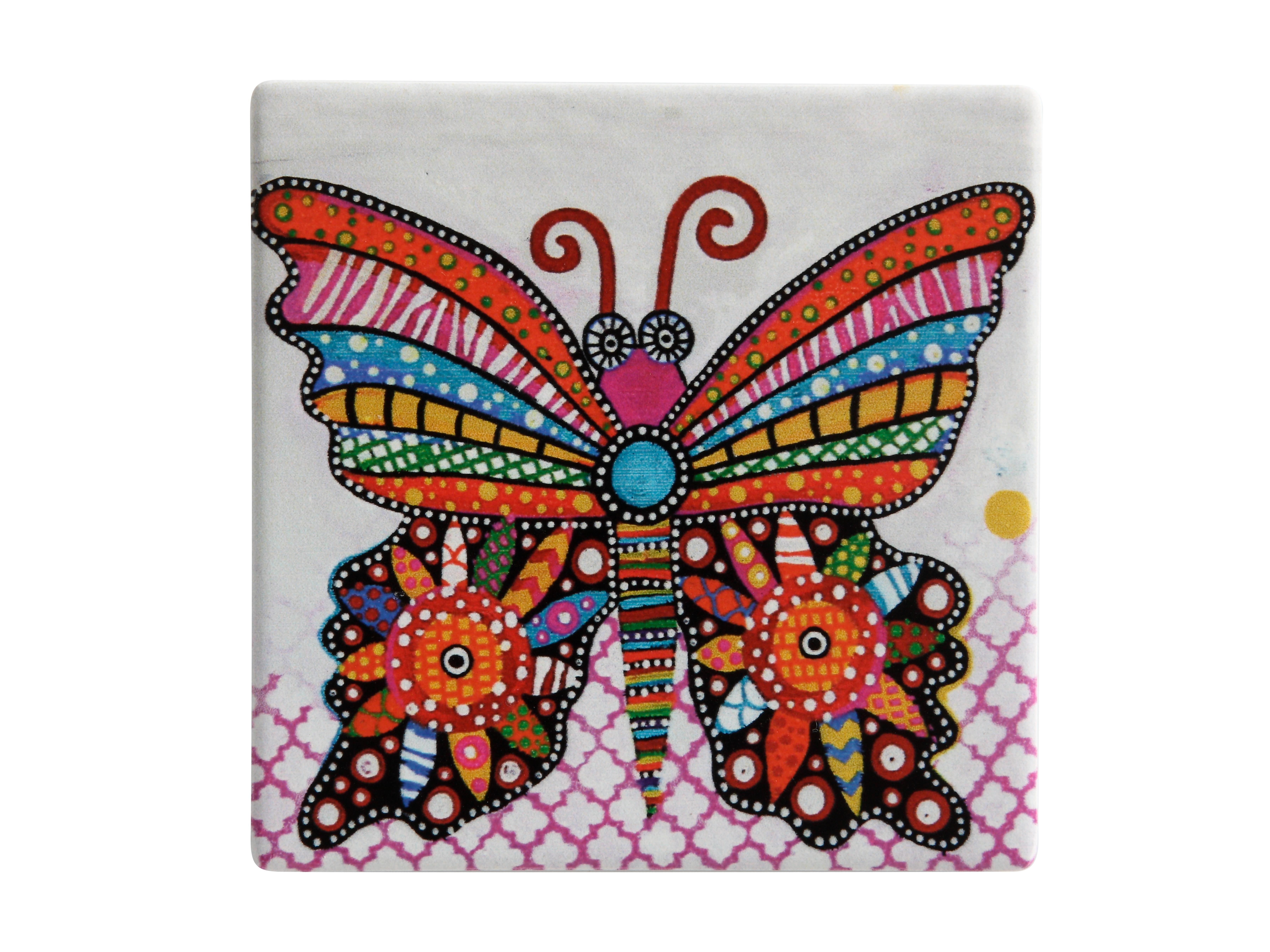 Piastrella sottobicchiere flutter la farfalla smile style du0028
